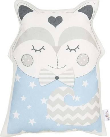 Modrý dětský polštářek s příměsí bavlny Mike&Co.NEWYORK Pillow Toy Smart Cat, 23 x 33 cm
