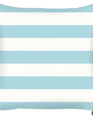 Modrý povlak na polštář Mike&Co.NEWYORK Stripes, 43 x 43 cm