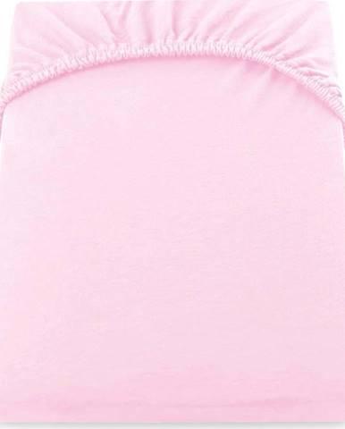 Růžové elastické prostěradlo DecoKing Nephrite Lila, 140/160 x 200cm