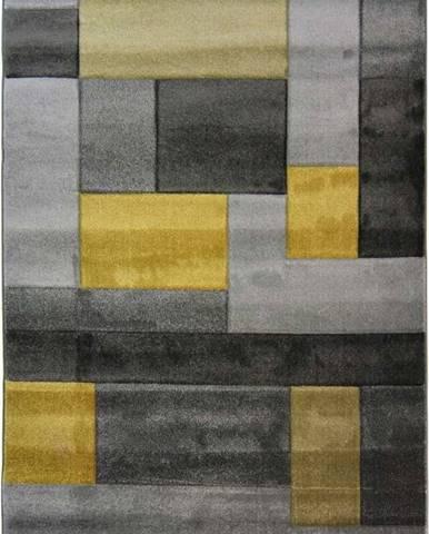 Šedo-žlutý koberec Flair Rugs Cosmos, 120x170cm
