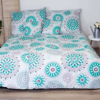 Bavlněné povlečení s tyrkysovým dekorem Cotton House Mandala, 140 x 200 cm