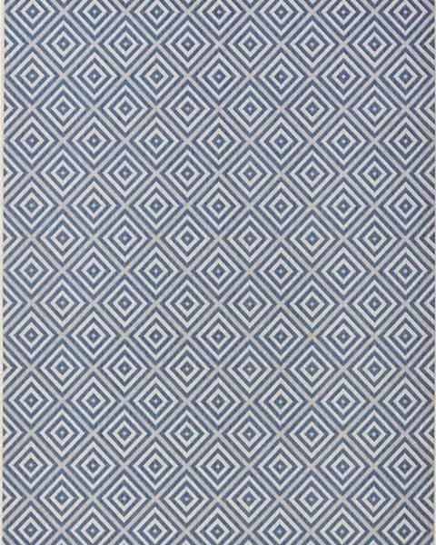 Bougari Modrý venkovní koberec Bougari Karo, 140x200cm
