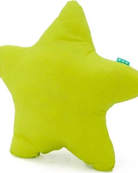 Happy Friday Basic Zelený bavlněný polštářek Happy Friday Basic Estrella Green, 50x50cm