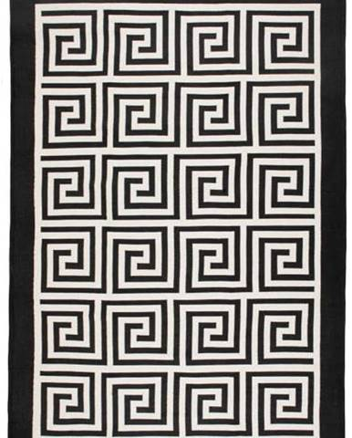 Béžovo-černý oboustranný koberec Framed,120x180cm
