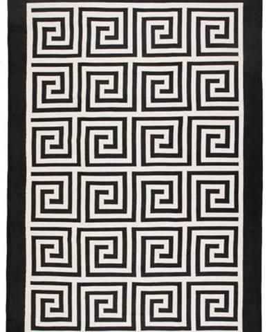 Béžovo-černý oboustranný koberec Framed, 80x150cm