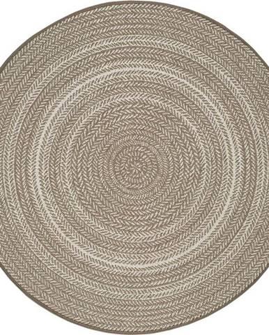 Béžový venkovní koberec Universal Silvana Rutto, ⌀ 120 cm