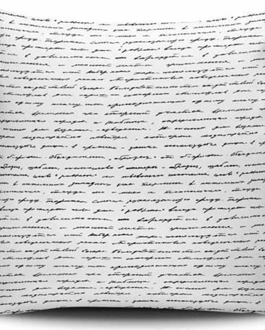 Černo-bílý povlak na polštář Calento Tamuna, 45 x 45 cm