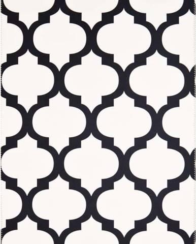 Černobílý koberec Vitaus Jessica,80x150cm