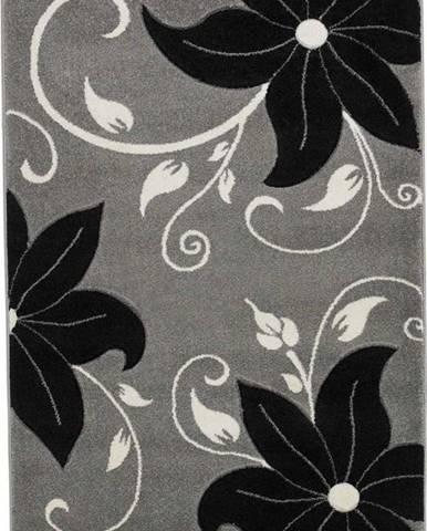 Černošedý koberec Think Rugs Verona, 60x 120cm