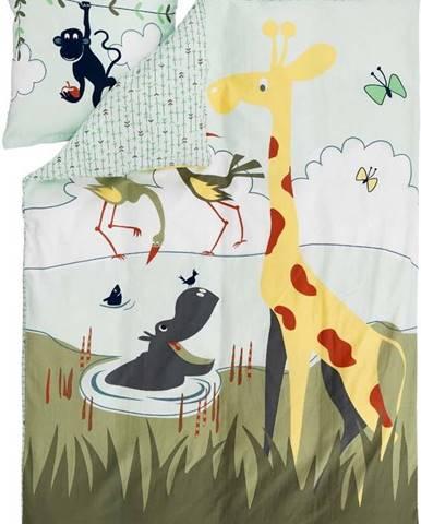 Dětské povlečení Flexa Safari, 140 x 200 cm + 50 x 70 cm