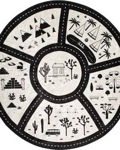 Dětský koberec Black City, ⌀140cm