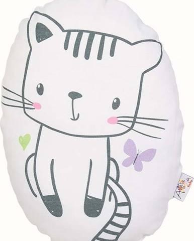 Dětský polštářek s příměsí bavlny Mike&Co.NEWYORK Pillow Toy Cute Cat, 30 x 22 cm