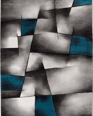 Modro-šedý koberec Universal Malmo, 140x200cm