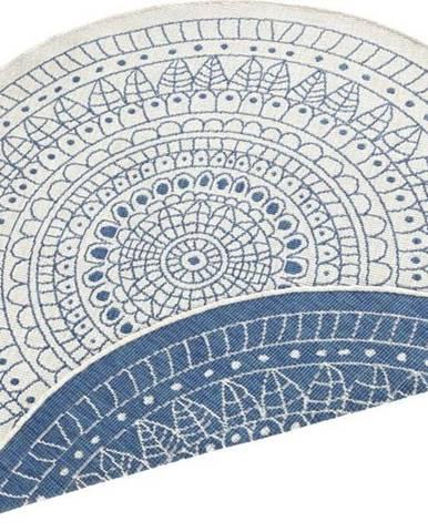 Modrý venkovní koberec Bougari Porto, ø 140 cm