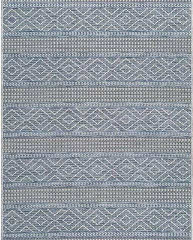 Modrý venkovní koberec Universal Cork Lines, 115 x 170 cm