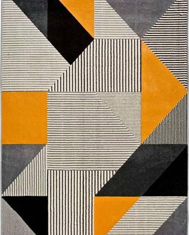 Oranžovo-šedý koberec Universal Gladys Duro, 200x290cm