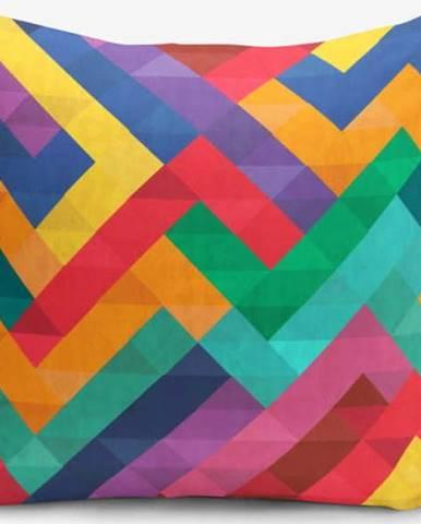 Povlak na polštář s příměsí bavlny Minimalist Cushion Covers Colorful Geometric Desen, 45 x 45 cm