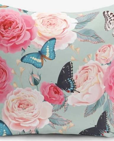 Povlak na polštář s příměsí bavlny Minimalist Cushion Covers Lekeli Butterflys, 45 x 45 cm
