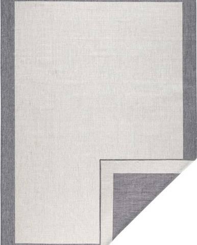 Šedo-krémový venkovní koberec Bougari Panama, 80x150 cm