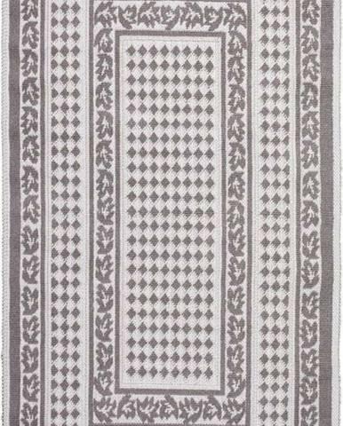 Šedobéžový bavlněný koberec Vitaus Olvia, 80x200cm
