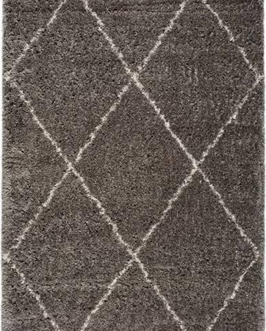 Šedý koberec Universal Lynn Lines, 80 x 150 cm