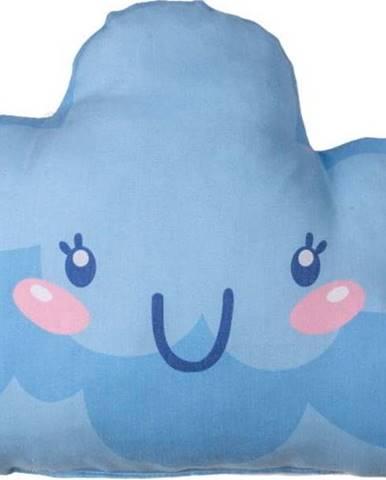 Tmavě modrý dětský polštářek s příměsí bavlny Mike&Co.NEWYORK Pillow Toy Hurro, 21 x 40 cm