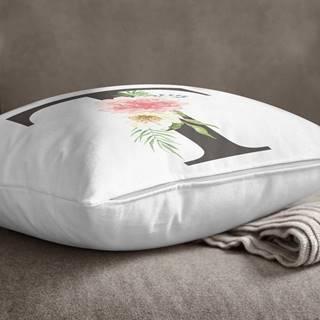Povlak na polštář Minimalist Cushion Covers Floral Alphabet T, 45 x 45 cm