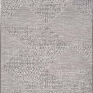 Šedý venkovní koberec Universal Macao Grey Wonder, 133x190cm