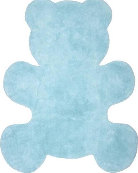 Nattiot Dětský modrý ručně vyrobený koberec Nattiot Little Teddy, 80x100cm