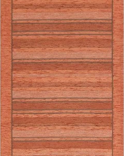 Floorita Oranžový běhoun Floorita Velour, 55 x 190 cm