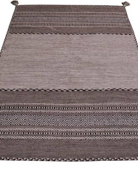 Webtappeti Šedo-béžový bavlněný koberec Webtappeti Antique Kilim, 60 x 90 cm