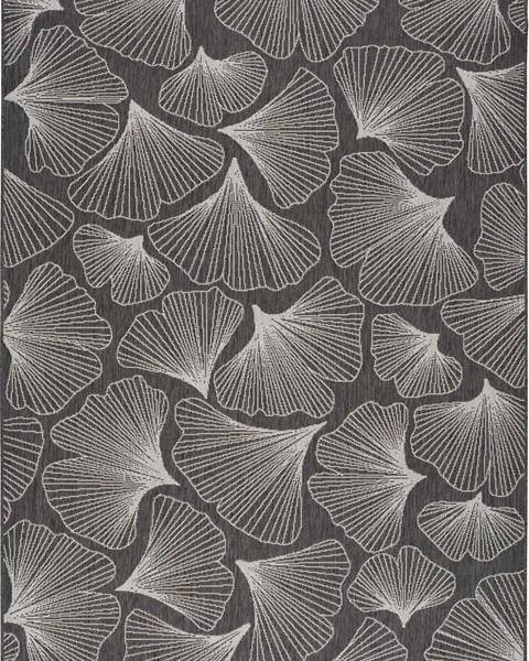 Universal Tmavě šedý venkovní koberec Universal Tokio, 80 x 150 cm