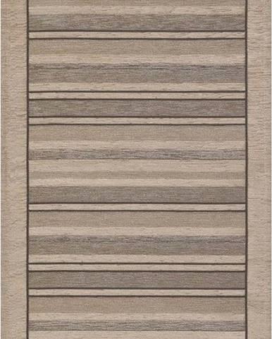 Béžový běhoun Floorita Velour, 55 x 115 cm