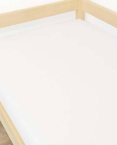 Bílé prostěradlo z mikroplyše,90x200cm