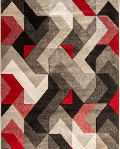 Červeno-šedý koberec Flair Rugs Aurora, 160 x 230 cm