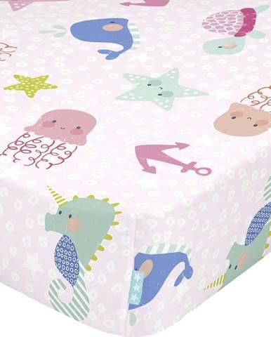 Dětské bavlněné prostěradlo Moshi Moshi Seamaid,70x140cm