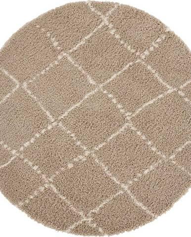 Hnědý koberec Mint Rugs Hash, ⌀ 120 cm