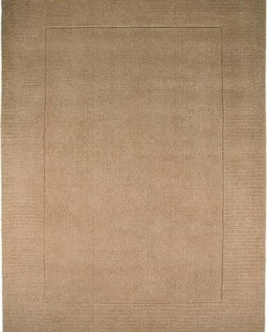 Hnědý vlněný koberec Flair Rugs Siena, 160 x 230 cm