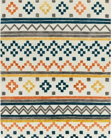 Koberec Asiatic Carpets Theo Earth Tone Geo, 120 x 170 cm
