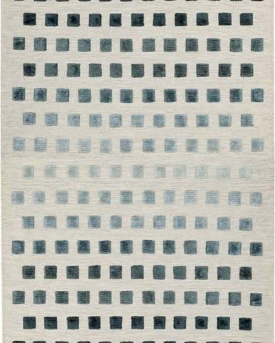 Koberec Asiatic Carpets Theo Silvery Squares, 120 x 170 cm