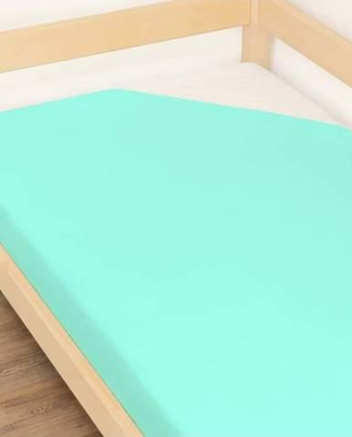 Modré prostěradlo z bavlny Benlemi Jersey,90x160cm
