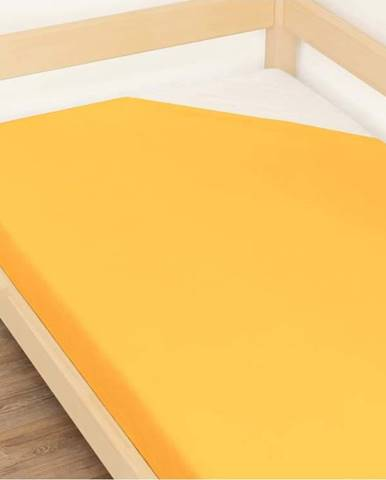 Oranžové prostěradlo z bavlny Benlemi Jersey,120x190cm