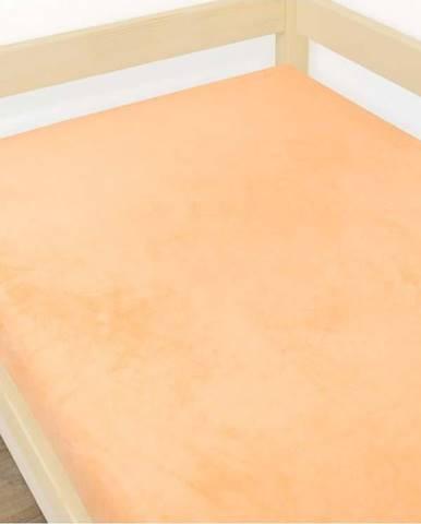 Oranžové prostěradlo z mikroplyše,90x190cm