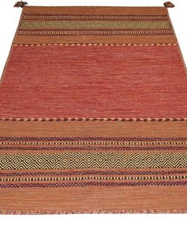 Oranžový bavlněný koberec Webtappeti Antique Kilim, 70 x 140 cm