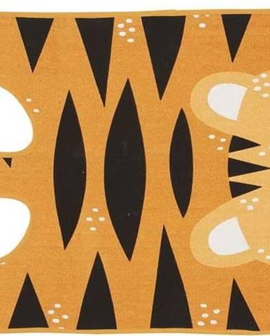 Oranžový dětský koberec z bavlny Södahl Tygr, 62 x 120 cm