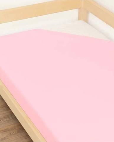 Růžové prostěradlo z bavlny Benlemi Jersey,120x200cm