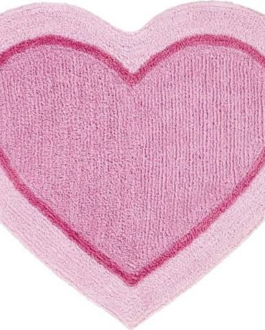Růžový dětský koberec ve tvaru srdce Catherine Lansfield, 50x80cm