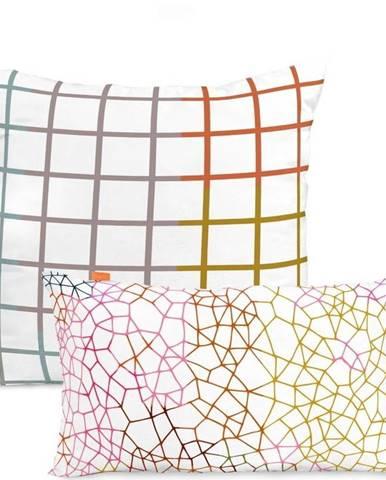 Sada 2 bavlněných povlaků na polštář Blanc Net
