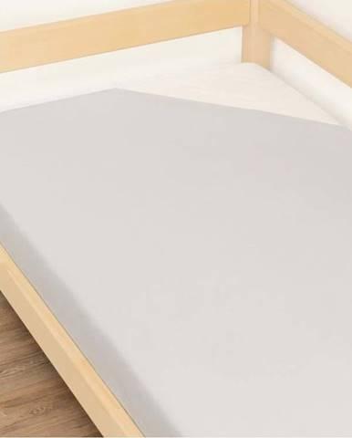 Šedé prostěradlo z bavlny Benlemi Jersey,120x200cm