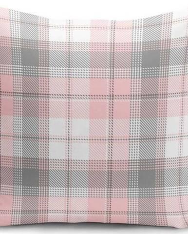Šedo-růžový dekorativní povlak na polštář Minimalist Cushion Covers Flannel,35x55cm